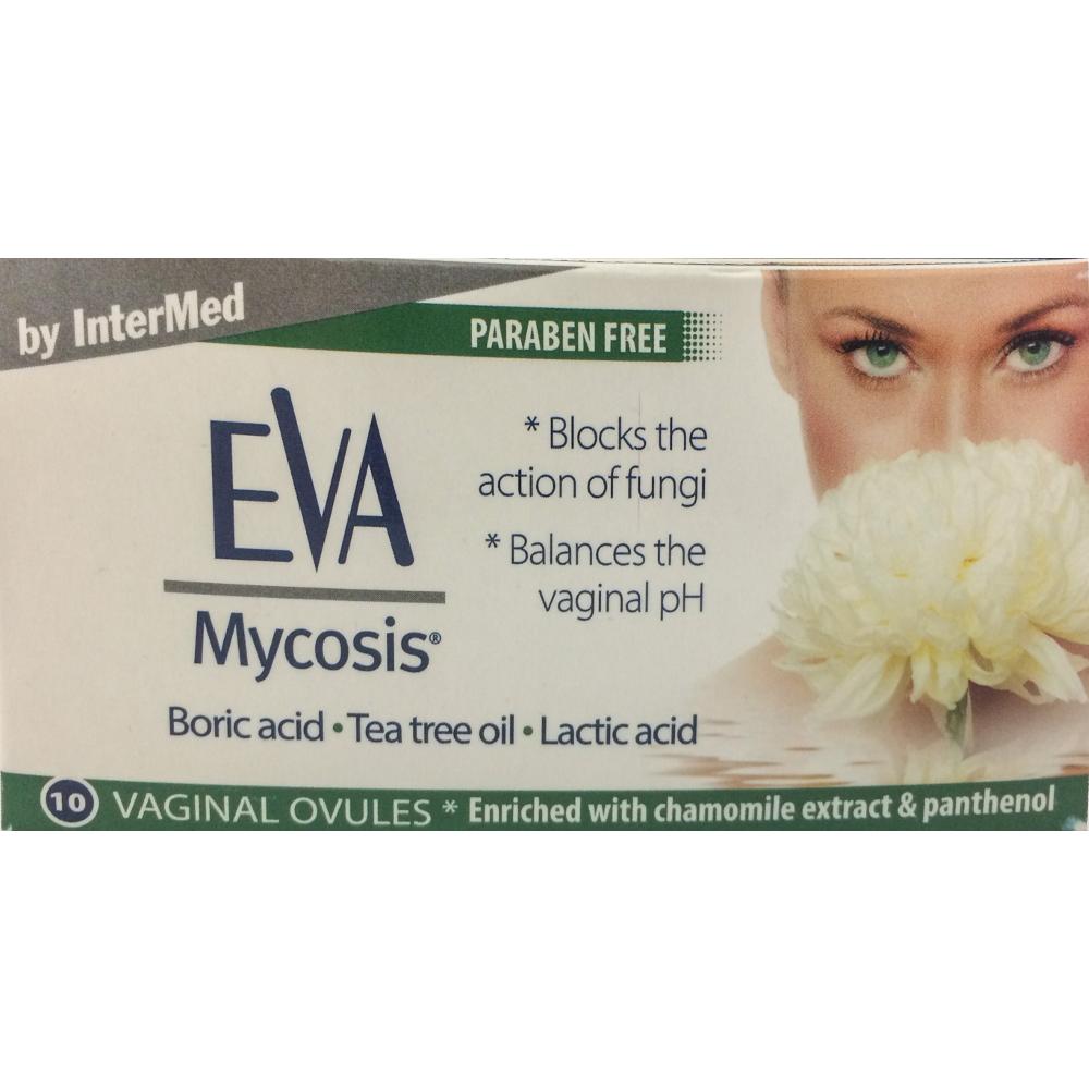 INTERMED Eva Mycosis, Κολπικό Υπόθετο για Μυκητιασικές Λοιμώξεις - 10τμχ