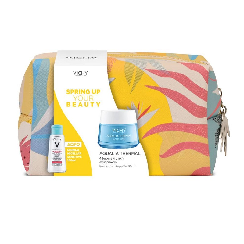 VICHY Σετ Spring Up Your Beauty, Aqualia Thermal Light Κρέμα για Κανονική Επιδερμίδα - 50ml & Δώρο Νεσεσέρ & Mineral Micellar Water - 100ml
