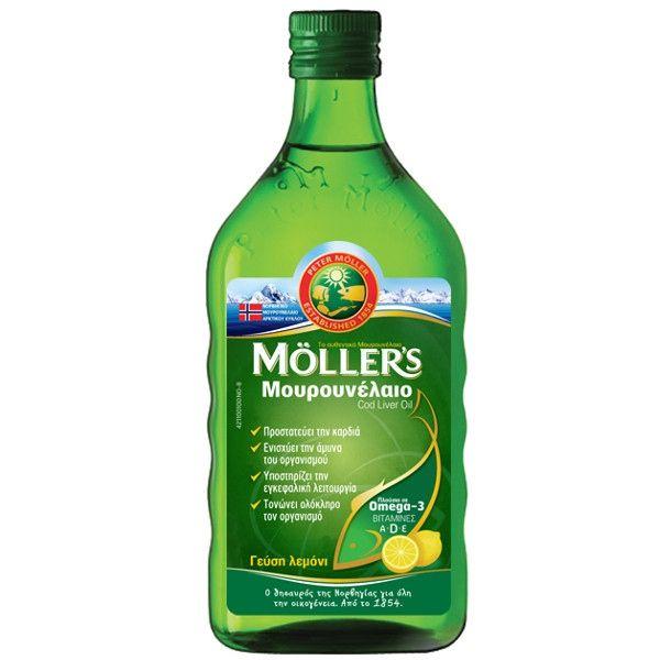MOLLERS Μουρουνέλαιο Cod Liver Oil Γεύση Λεμόνι - 250ml