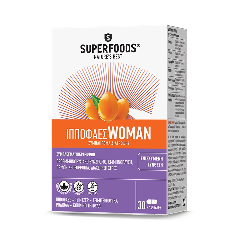 SUPERFOODS Ιπποφαές Woman - 30caps