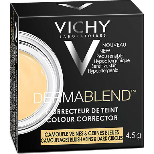 VICHY Dermablend Veins Corrector Διορθωτικό Προσώπου για τις Φλέβες & τους Μαύρους Κύκλους Κίτρινο Χρώμα 4.5gr