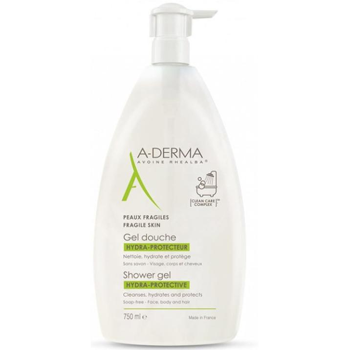 A-DERMA Shower Gel Hydra-Protective Αφρόλουτρο για Ευαίσθητες Επιδερμίδες 750ml