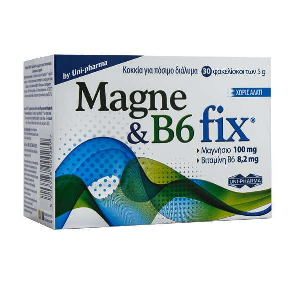 UNI-PHARMA Magne & B6 fix - 30φάκελοι