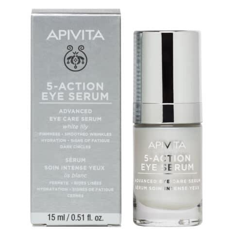 APIVITA 5 Action Eye Serum, Ορός Εντατικής Φροντίδας Ματιών - 15ml