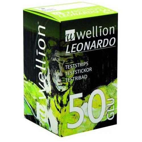 WELLION Leonardo GLU, Ταινίες Μέτρησης Γλυκόζης - 50τεμ