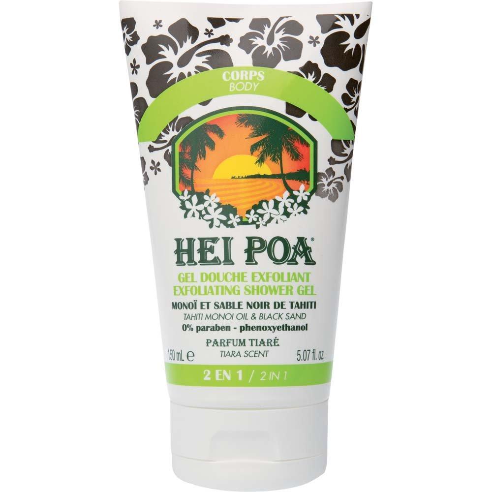 HEI POA Exfoliating Shower Gel with Tahiti Monoi Oil & Black Sand 150ml