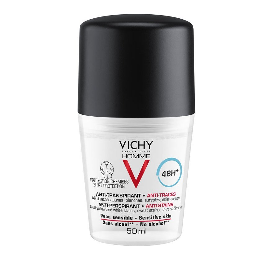 VICHY Homme Anti-Perspirant 48h Anti-stain Roll-On 50ml