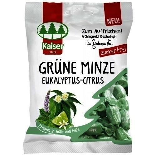 KAISER Grune Minze Eukalyptus-Citrus Καραμέλες για το Βήχα 60gr