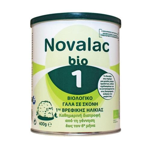 NOVALAC BIO 1, Γάλα σε Σκόνη 1ης Βρεφικής Ηλικίας 0-6ο μήνα - 400gr