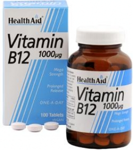 HEALTH AID Vitamin B12 1000mg - 50tabs