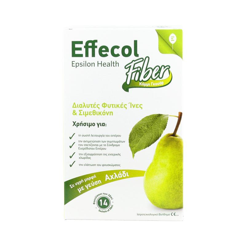 EPSILON HEALTH Effecol Fiber με Γεύση Αχλάδι - 14 φάκελοι X 30ml