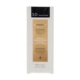 KORRES Βαφή Μαλλιών Abyssinia Superior Gloss Colorant Καστανό Σκούρο 3.0 50ml