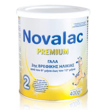 NOVALAC Premium 2, Γάλα 2ης Βρεφικής Ηλικίας  6-12ο Μήνα - 400g