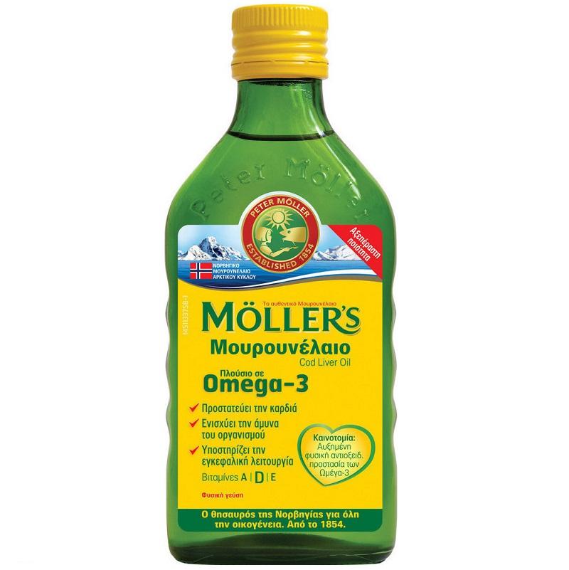 MOLLERS Μουρουνέλαιο Cod Liver Oil Γεύση Φυσική - 250ml