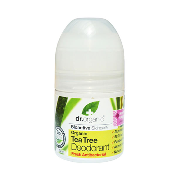 DR.ORGANIC Tea Tree Deodorant, Αποσμητικό με Βιολογικό Τεϊόδεντρο - 50ml