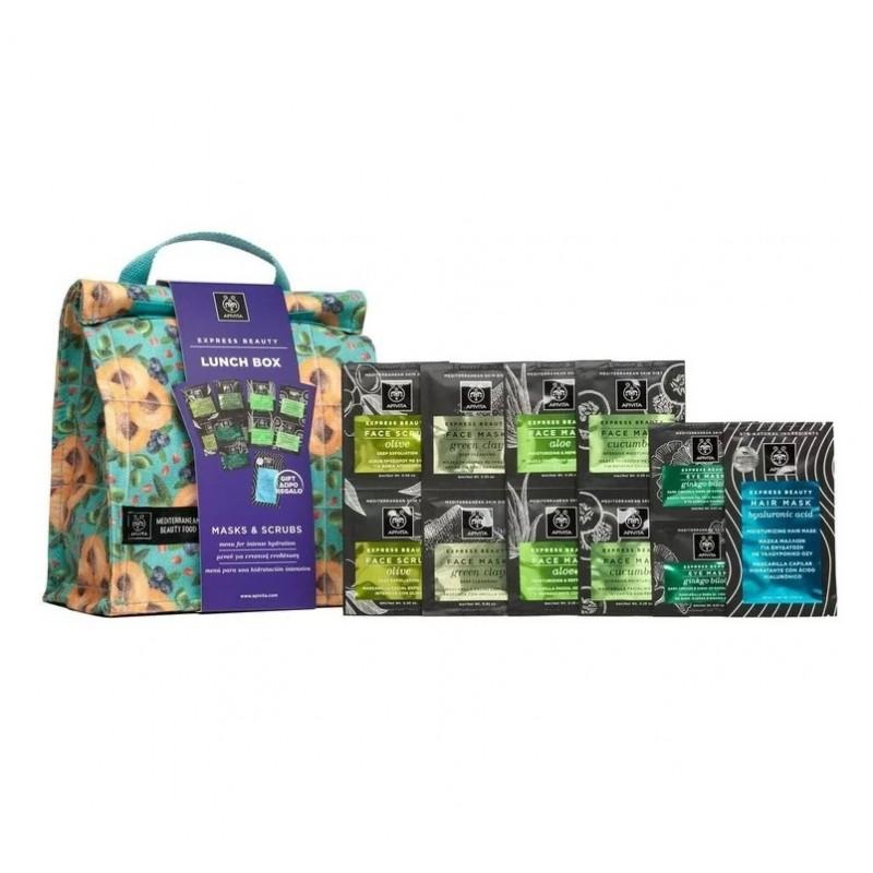 APIVITA Limited Express Beauty Lunch Box Μasks & Scrubs Μενού για Εντατική Ενυδάτωση 6τμχ