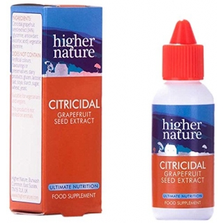 HIGHER NATURE Citricidal Εκχύλισμα Σπόρων Grapefruit 45ml