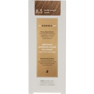 KORRES Βαφή Μαλλιών Abyssinia Superior Gloss Colorant Ξανθό Ανοιχτό Χρυσό 8.3 50ml