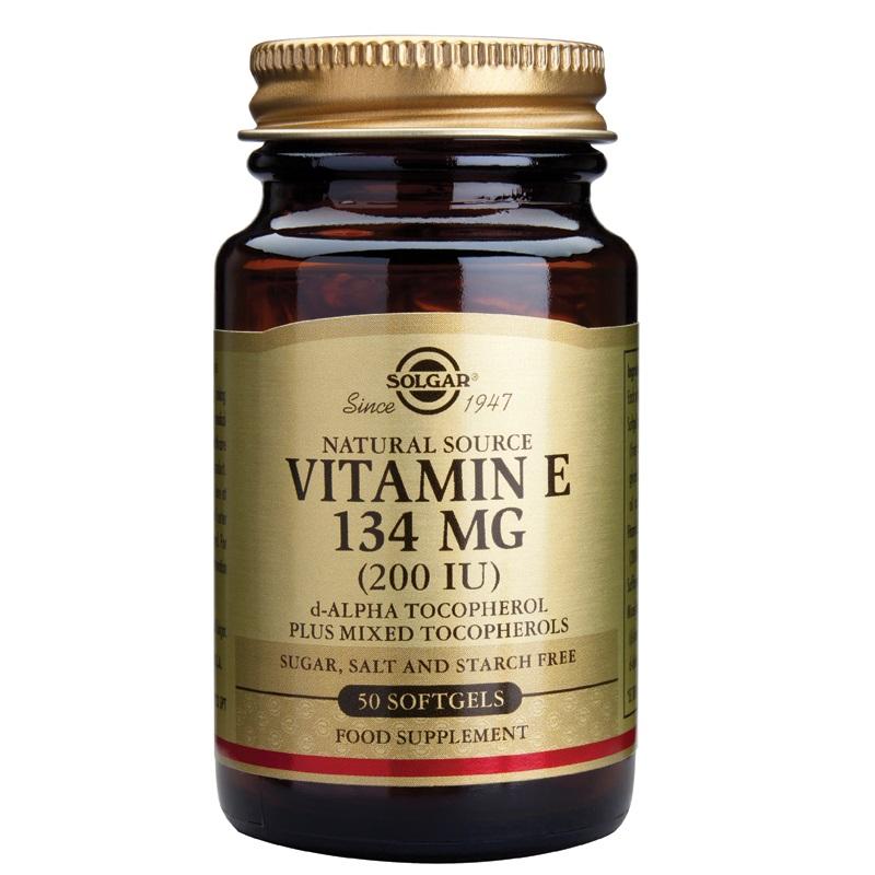 SOLGAR Vitamin E Natural 200IU - 50softgels