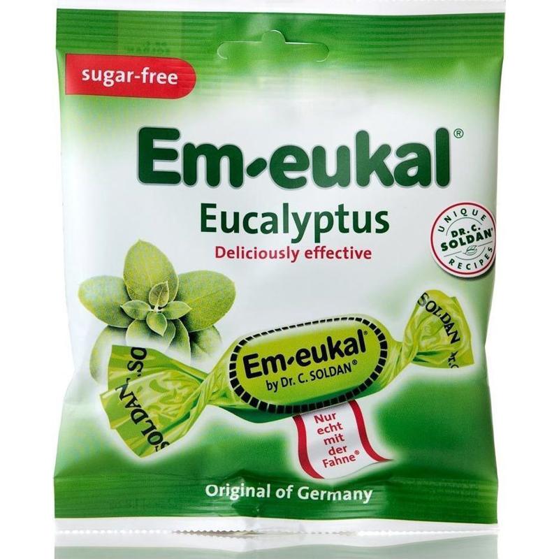 EM-EUKAL Καραμέλες Για Το Λαιμό Με Γεύση Ευκάλυπτου 50ml(12τμχ)
