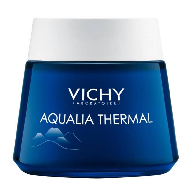VICHY Aqualia Thermal Night Spa Cream, Ενυδατική φροντίδα Νυκτός και Μάσκα - 75ml