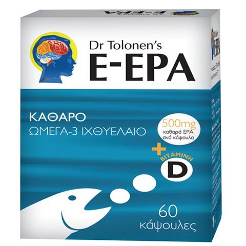 DR TOLONENS E-EPA, Καθαρό Ω3 Ιχθυέλαιο - 60caps