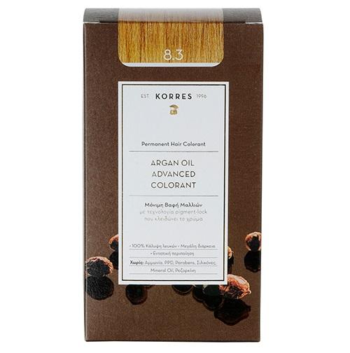 KORRES Βαφή Argan Oil 8.3 Ξανθό Ανοιχτό Μελί - 50ml