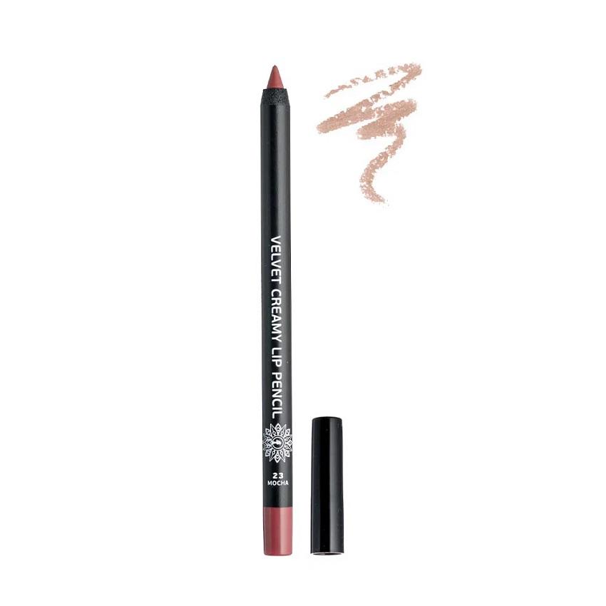 GARDEN Velvet Creamy Lip Pencil, Μολύβι Χειλιών, Mocha No23 - 1,4gr