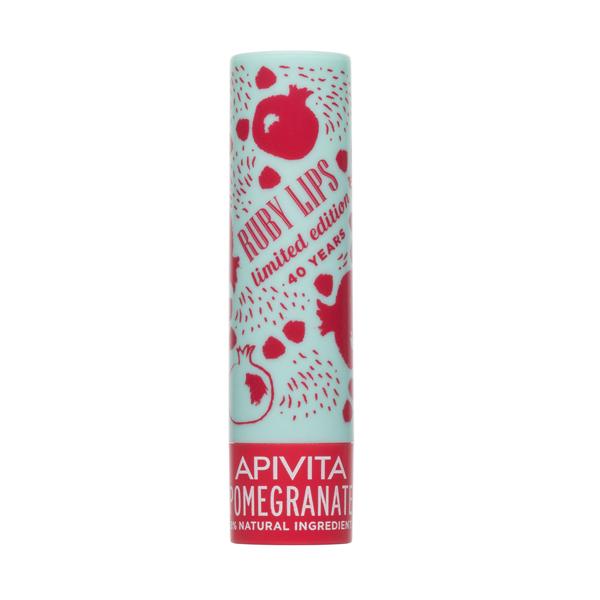 APIVITA Comfort Smile Limited Edition 40 Years Lip Care Pomegranate Tinted- Balm Xειλιών Με Ρόδι & Χρώμα 4.4g