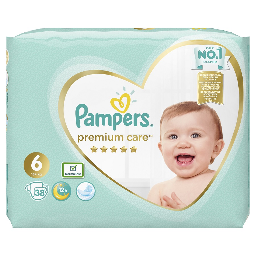 PAMPERS Premium Care No 6 (13+Kg) - 38τμχ