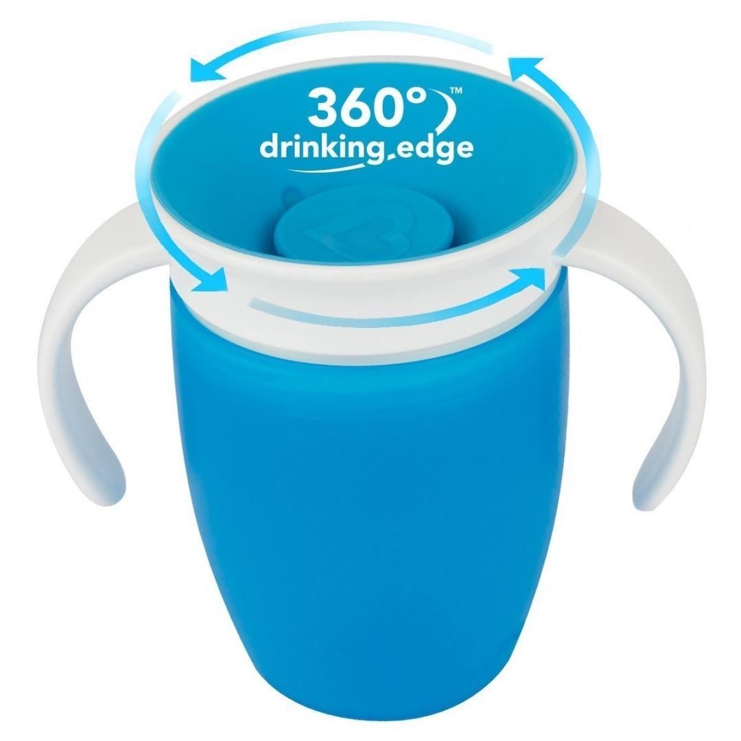 MUNCHKIN Miracle 360° Cup Κύπελλο Εκπαιδευτικό με Λαβές Γαλάζιο - 207ml