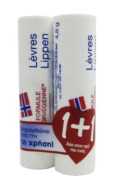 NEUTROGENA Norwegian Formula Lip Care Stick 4,8gr 1+1 Δώρο