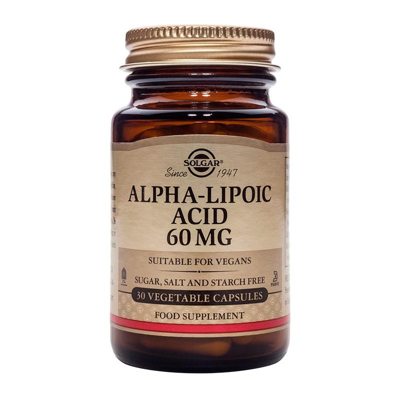 SOLGAR  Alpha Lipoic Acid 60mg - 30veg.caps
