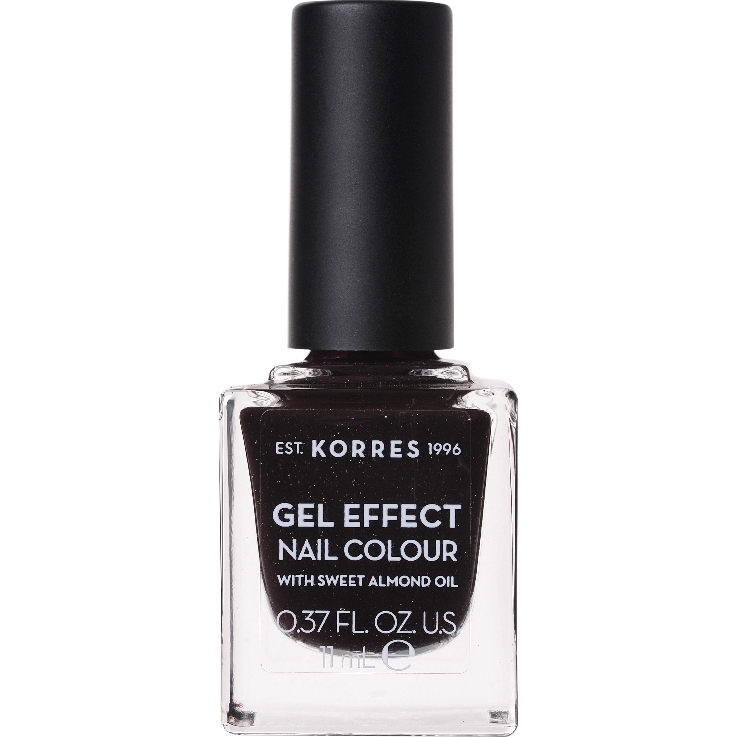 KORRES Gel Effect Nail Colour Βερνίκι Νυχιών No. 77 Sequins Plum 11ml