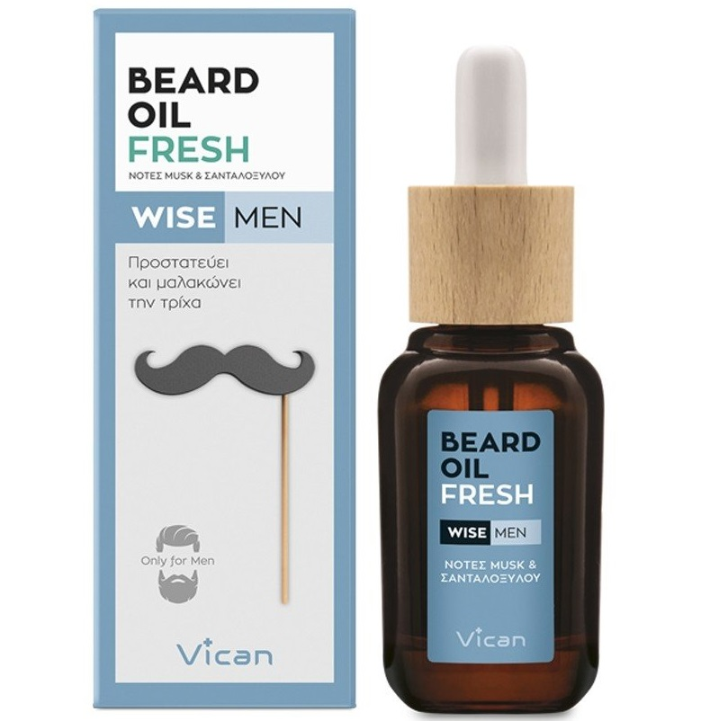 VICAN Wise Men Beard Oil, Fresh - 30ml