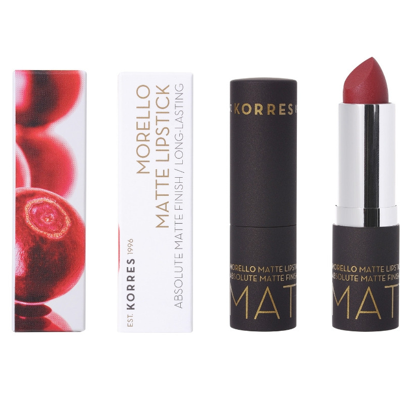 KORRES Morello Matte Lipstick 59 Burgundy Red 3.5gr