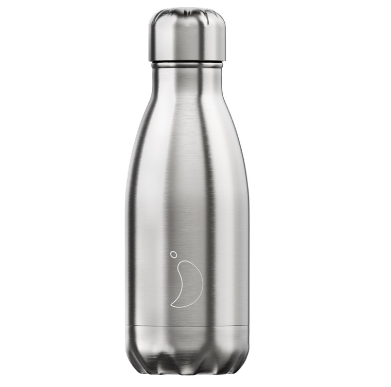 CHILLYS BOTTLES Μπουκάλι- Θερμός, Silver - 260ml