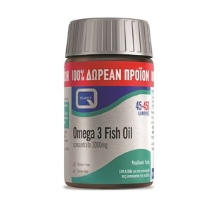 QUEST Omega 3 Fish Oil 1000mg 45 & 45 Κάψουλες
