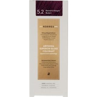 KORRES Βαφή Μαλλιών Abyssinia Superior Gloss Colorant Καστανό Ανοιχτό 5.2 50ml