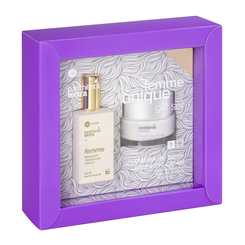 PANTHENOL Extra Femme Unique Gift Set, Eau De Toilette - 50ml & Face & Eye Cream - 50ml