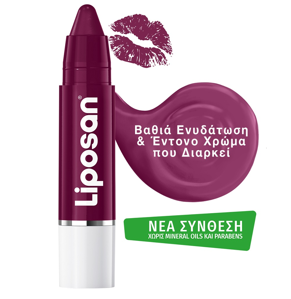 LIPOSAN Crayon Lipstick, Black Cherry - 3g