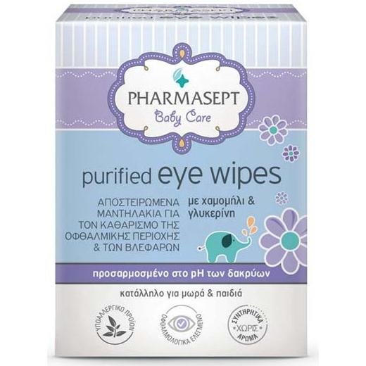 PHARMASEPT Purified Eye Wipes Αποστειρωμένα Μαντηλάκια για τα Μάτια 10pcs