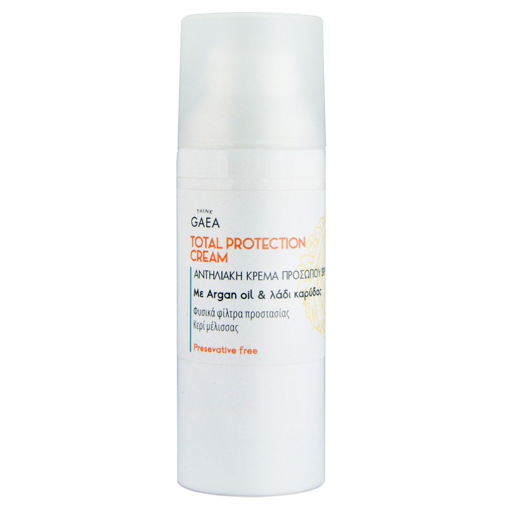THINK GAEA Total Protection Cream Αντηλιακή Κρέμα Προσώπου SPF50 50 ml
