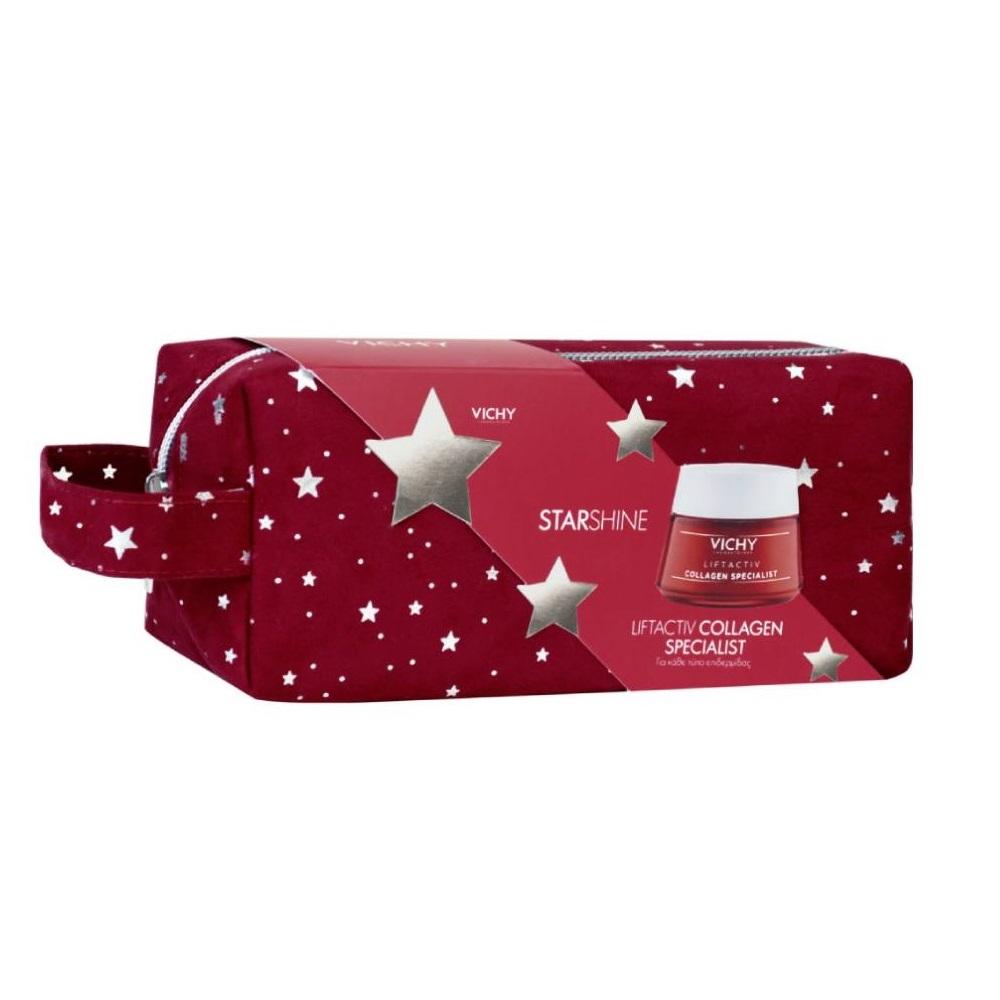 VICHY Starshine Liftactiv Collagen Specialist Για Κάθε Τύπο Επιδερμίδας - 50ml με Δώρο Γιορτινό Νεσεσέρ