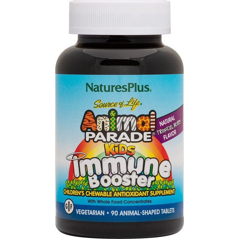 NATURE΄S PLUS Animal Parade Gummies,Immune Booster, Πολυβιταμίνες για Παιδιά - 90 Ζελεδάκια