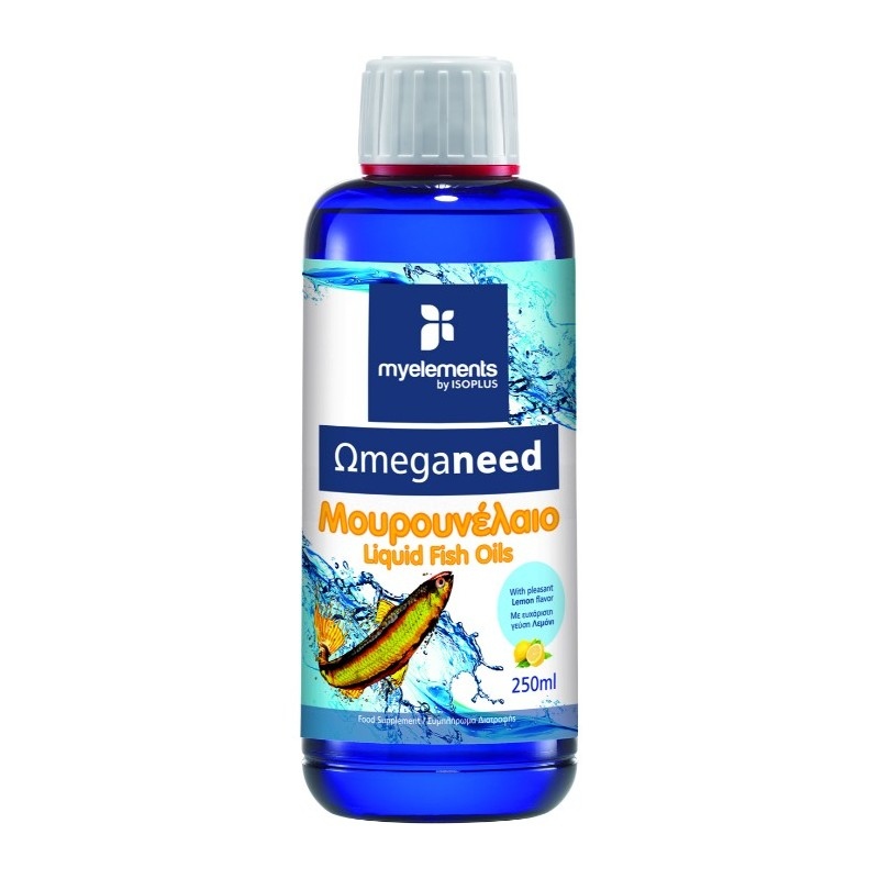 MY ELEMENTS Ωmeganeed Μουρουνέλαιο με Γεύση Λεμόνι - 250ml