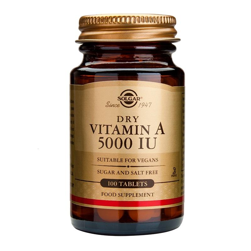 SOLGAR Vitamin A Dry 5000IU - 100tabs