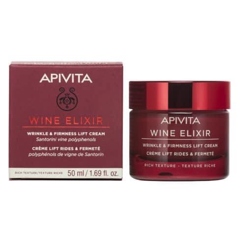 APIVITA Wine Elixir Wrinkle & Firmness Lift Cream Rich Texture 50ml