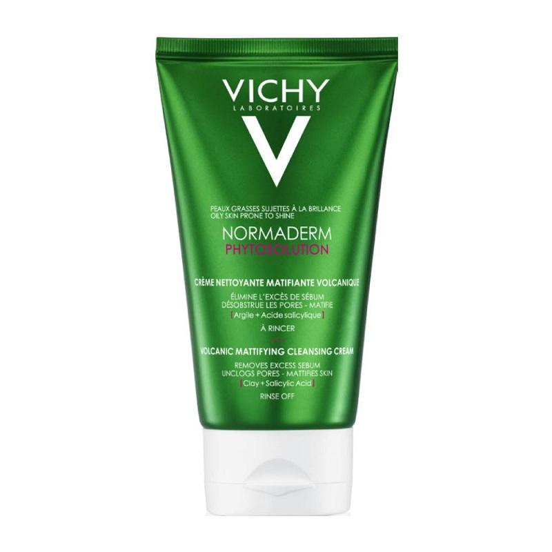 VICHY Normaderm Phytosolution Volcanic Mattifying Cleansing Cream, Καθαριστικό Προσώπου με Άργιλο - 125ml