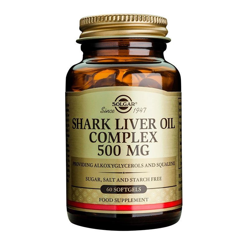 SOLGAR Shark Liver Oil Complex 500mg - 60softgels